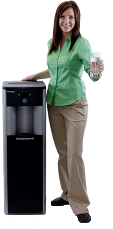 Woman by Water Cooler